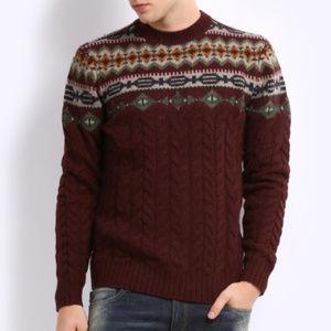 Mens Levi's Authentic Cable Knit sweater Mens XL